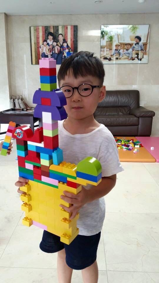 Daehan and his Lego artwork