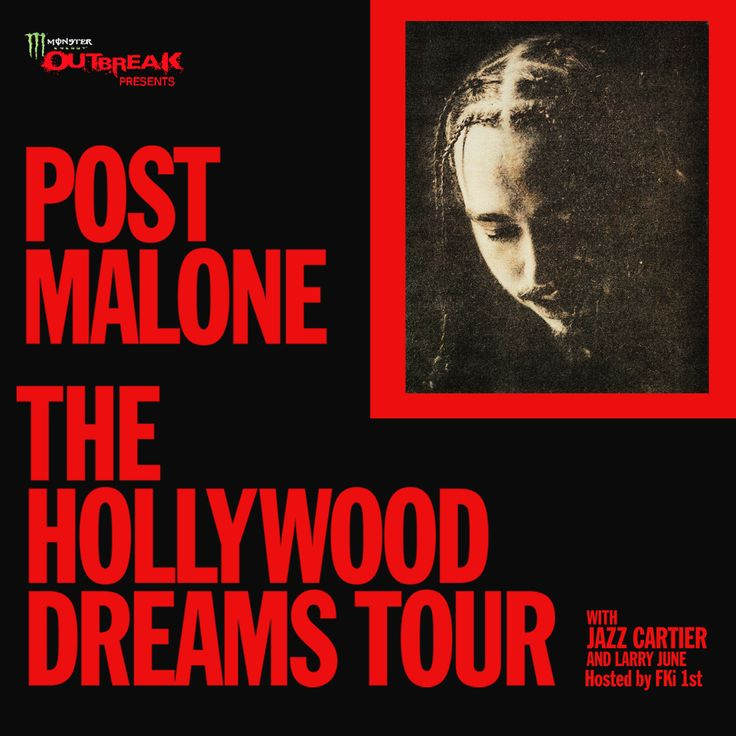 NEW TOUR – Post Malone is getting ready for The Hollywood Dreams Tour with Jazz Cartier and Larry June! Don't miss your chance to catch him live! Check tour dates and get ticket info here: http://hoblu.es/PostMalone