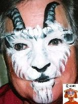 Geit goat face paint schmink