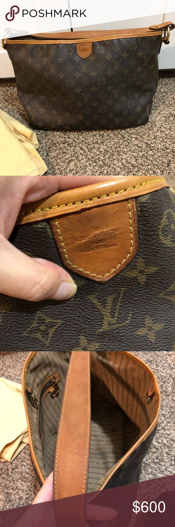 LV Delightful PM No cracks or tears comes with dust bag. There is stain inside and pocket Louis Vuitton Bags Totes