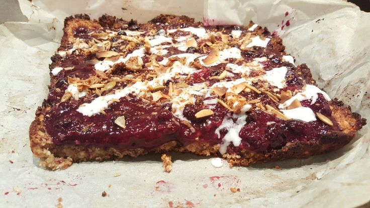 My raw coconut berry slice