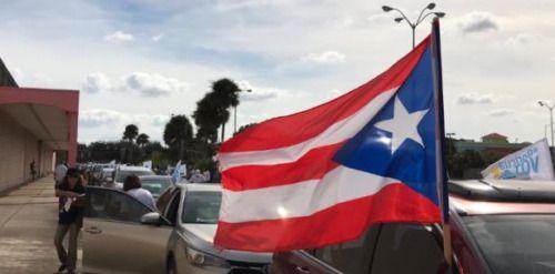 Boricuas en Orlando instan al voto en caravanas...