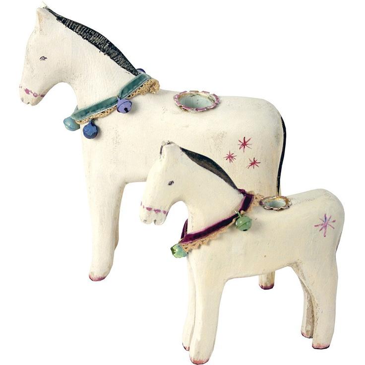 Maileg Biały drewniany Koń   Bokado