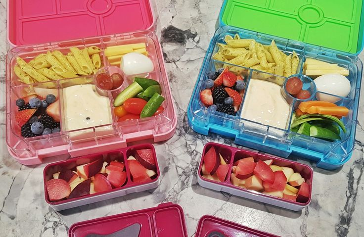 Day 5:  Crunch & Sip -  * Fresh plum and apple bits  Lunch / Morning Tea -  * GF Pesto Pasta  * Boiled Egg & Cheese Fingers * Mini cucumber wedges and cherry tomatoes/carrots * Passionfruit yoghurt * Red seedless grapes * Berry combo  (strawberry, blackberry & blueberry)