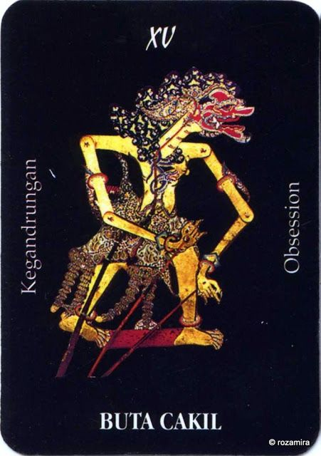 XV. The Devil (Buta Cakil) - Tarot Wayang (Indonesia) by Ani Sekarningsih