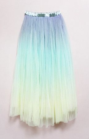 pastel ombre skirt... This would be so cute if it was short in the front and long in the back