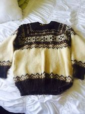 Vintage Norlender Wool Sweater Beige And Brown Size M