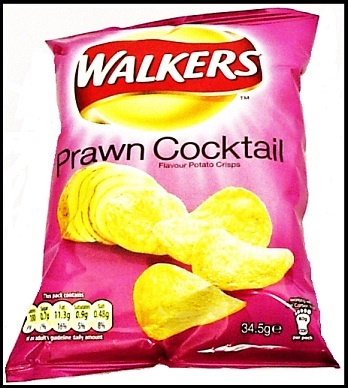 Prawn cocktail crisps, one of the more eccentric British potato crisp flavours. Have you tried them?