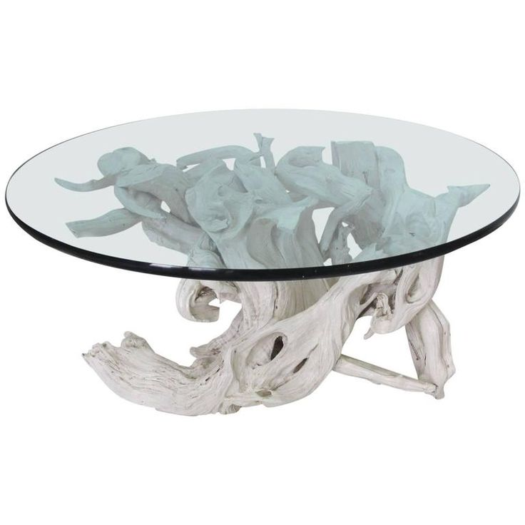 25 best ideas about round glass coffee table on pinterest for White driftwood coffee table