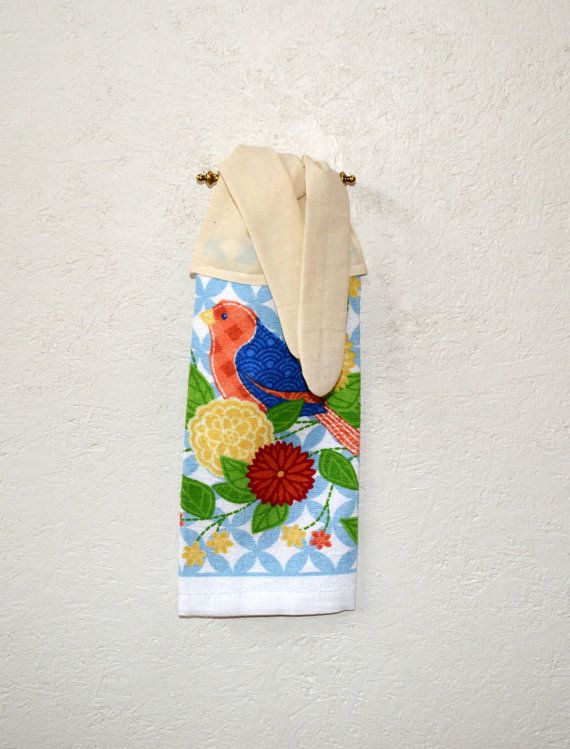 Kitchen Hand Towel Hand Towel Bird Towel Tie On By SuesAkornShop, $6.00