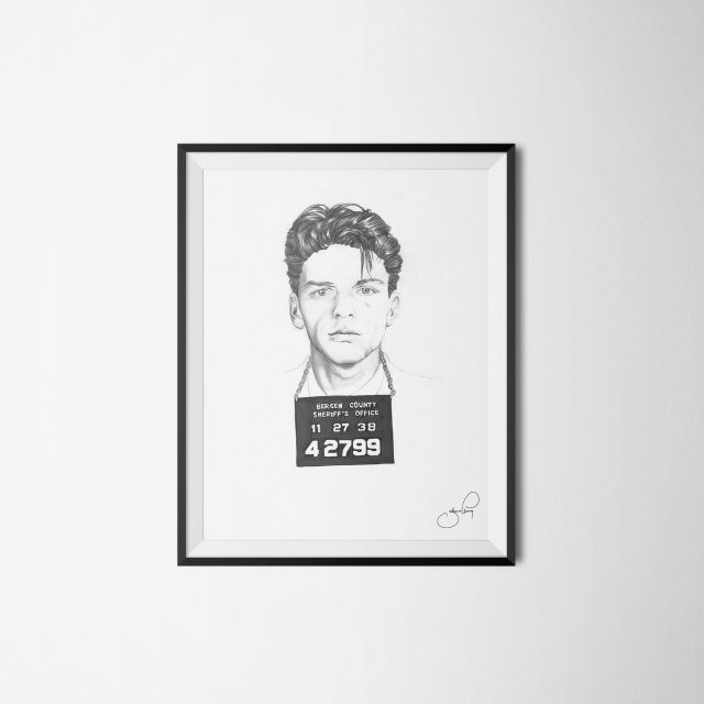 J.ELMING ILLUSTRATIONS aims to make art available for everyone by offering unique and easygoing pieces to reasonable prices  frank sinatra frankieboy drawing