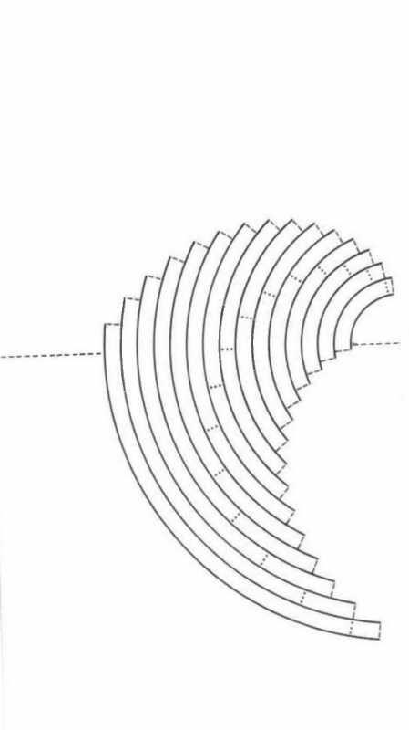 Открытка киригами торт схема сборки