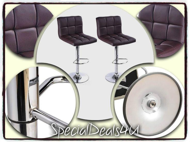 Bar Stools Set Modern Swivel Leather Metal Chair Adjustable Chrome Seat Pub Home #AdjustableBarStools #ModernContemporaryArt
