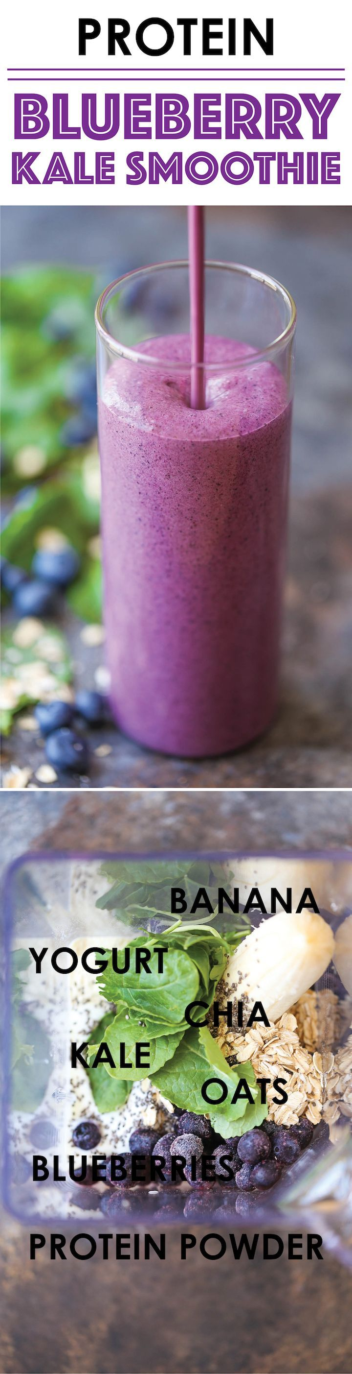 kale blueberry smoothie weight loss