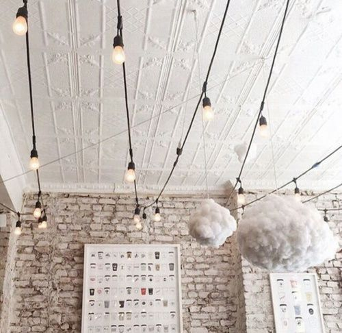 Patio lights aren't just for patios anymore. #lighting