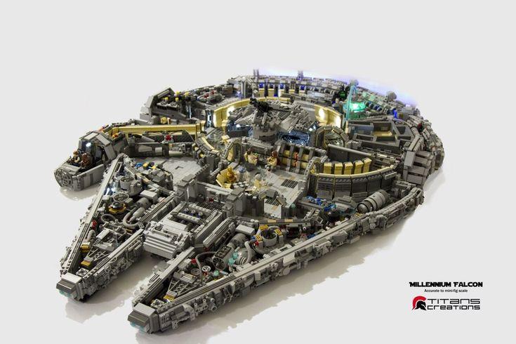 Ce Faucon Millénium en 10 000 briques Lego est fou !