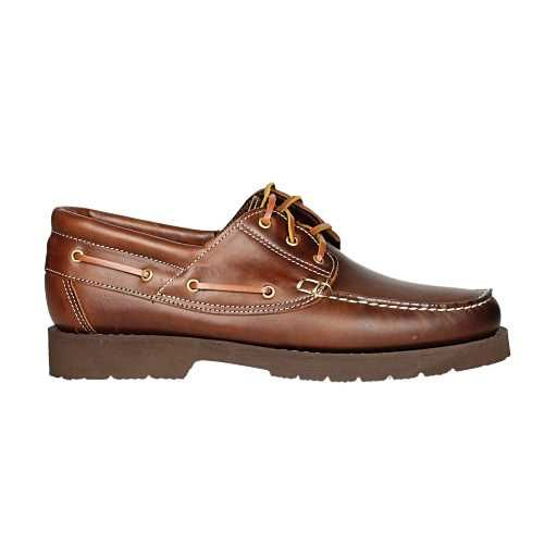 Zapato naútico de Biguer's de cuero con suela de goma