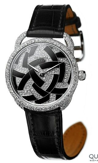 """Arceau Temari by Hermès - Jewellery Pre-Selected Watches: Round Table Discussion Of The Grand Prix d'Horlogerie de Genève 2014 - The Japanese-inspired Arceau Temari model combines the skills of snow setting and hard stone marquetry in an exceptional collection of jewellery watches.   The story of Temari, an art meaning """"hand ball"""" in Japanese, is bound up with that of kimonos, since the making of these silken garments provided enough scraps of fabric to make these entertaining objects that…"""