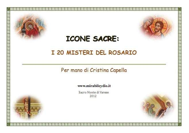 icone sacre:i 20 misteri del rosario euro 10