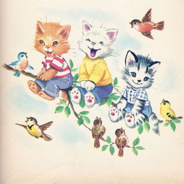 Margaret Webbe illustration from 'The Seven Wonderful Cats' Rand McNally 1951 book