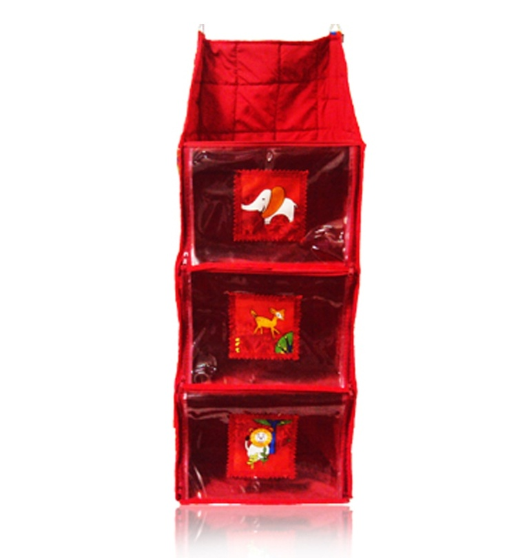 PrettyKrafts Baby Rack 3 Folds - Maroon:-Hi! Kudos presents exclusive range of baby utility products such as baby wardrobe, hanging racks, baby bin and sleeping set. All these products are designed uniquely in the way any child expect there stuffs to be.