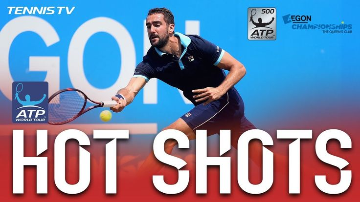 #atp #tennis #news  Cilic Survives Soggy Saturday For Queen's Final Berth