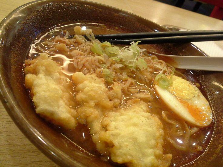 Ramen in miso soup