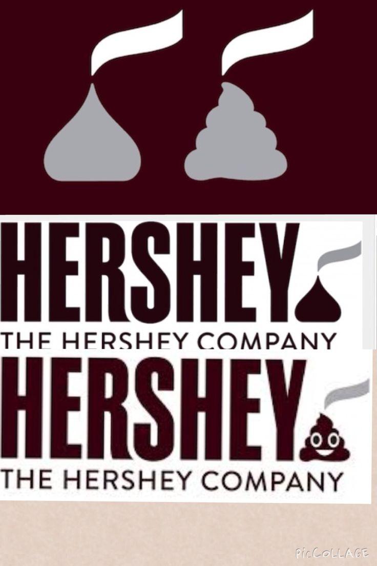 #hersheys y su cambio de logo altamente criticado en redes sociales, comparado con un emoji no muy agradable de whatsapp #marcas #actualidad #logo