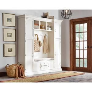 Home Decorators Collection Royce Polar White Hall Tree 7474200410 at The Home Depot - Mobile