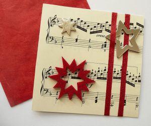 Imagen tarjetas-navidenas-manualidades-con-botones del artículo Elegantes tarjetas navideñas hechas a mano 2017