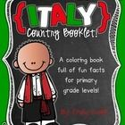 "This ""All About Italy"" booklet can be used for a very basic country study in lower elementary grades!  Just print out the pages, have kids cut along the center dotted line, stack the small pages on top of each other and staple together! All clip-art is in an outline format so that it's ready to be colored like a mini-coloring book."