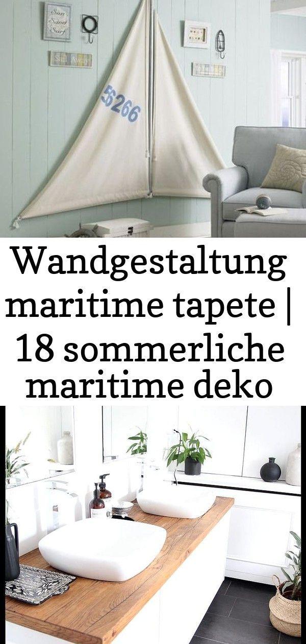 Wandgestaltung Maritime Tapete Wandgestaltung Kleine Badezimmer