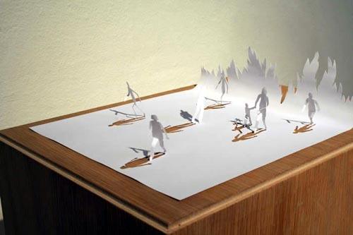 """坂井直樹の""""デザインの深読み"""": 日常にあるなんでもない「A4の紙」で作られた作品。たった一枚の紙でこんなに遊べるなんてすご~~い!"""