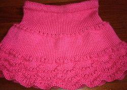 Pretty in Pink Skirt | AllFreeKnitting.com