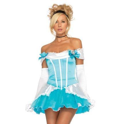 Cinderella....I think I don't like the aqua bows