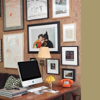 Orange phone/cork wall