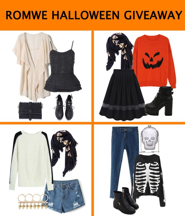#Repintowin>>There will be Four(4) winners!   How to win one of 4 outfit:  1、Follow @Romwe 2、Choose the outfit you love 3、Like & repin the post Ends on October 31st, 2014   Btw, Romwe will have a Halloween sale from Oct 28 to Nov 03, up to 70% off. Waiting for your coming~~~