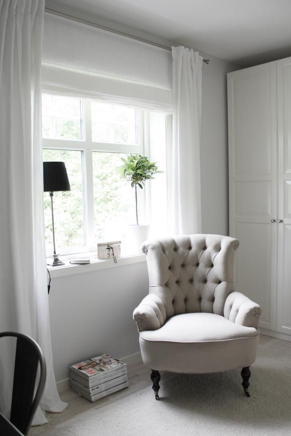 My home and lifestyle: Kontor och dressingroom -- curtains and blind