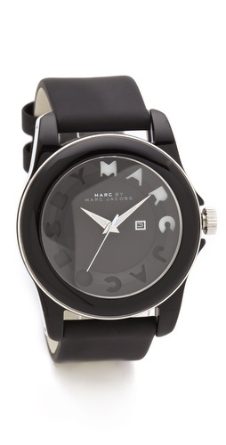 wrist candy: Marc Jacobs Watches, Favourit Watches, Jacobs Icons, Stripes Watches, Icons Stripes, Black Watches, Jacobs Black, Buy Marc, Black Icons