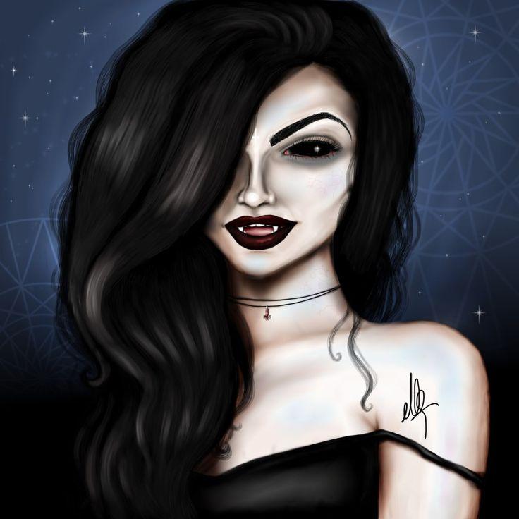 vampir frau illustration