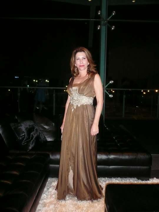 Brown grecian style gown  http://www.arcarocouture.com.au/