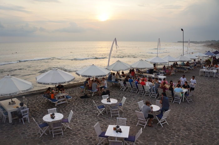 The Echo beach. One of beach in Canggu where the supporting infrastructures already available there. Photo By Raditya Ma...