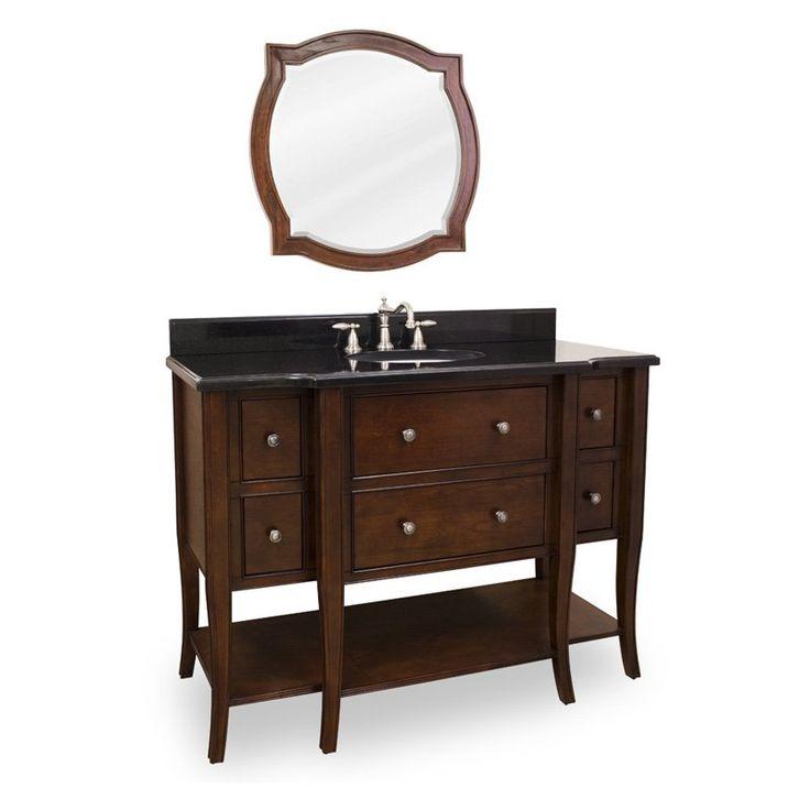 Lyn Design 48.5-in. Philadelphia Classic Single Bathroom Vanity with Optional Mirror $1678.50 (do not like the mirror!)