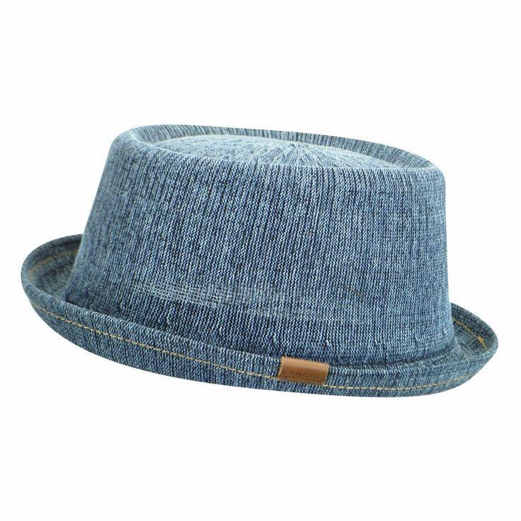 Kangol Denim Mowbray Men's Cotton Blend Pork Pie Hat Denim Blue Authentic #Kangol #PorkPie