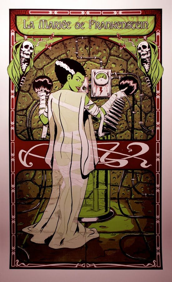 """1. Super Punch: Glow in the dark Bride of Frankenstein print...Looks really cool, except the exact french title was """"la Fiancée de Frankenstein"""", not """"la Mariée..."""", which doesn't make much sense actually.  Reply"""