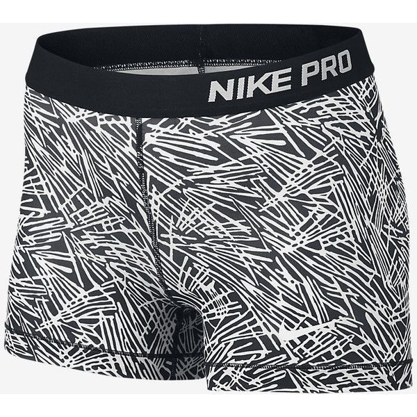 "Nike Pro 3"" Cool Palm Women's Training Shorts. Nike.com ($30) ❤ liked on Polyvore featuring activewear, activewear shorts, nike activewear, nike and nike sportswear"
