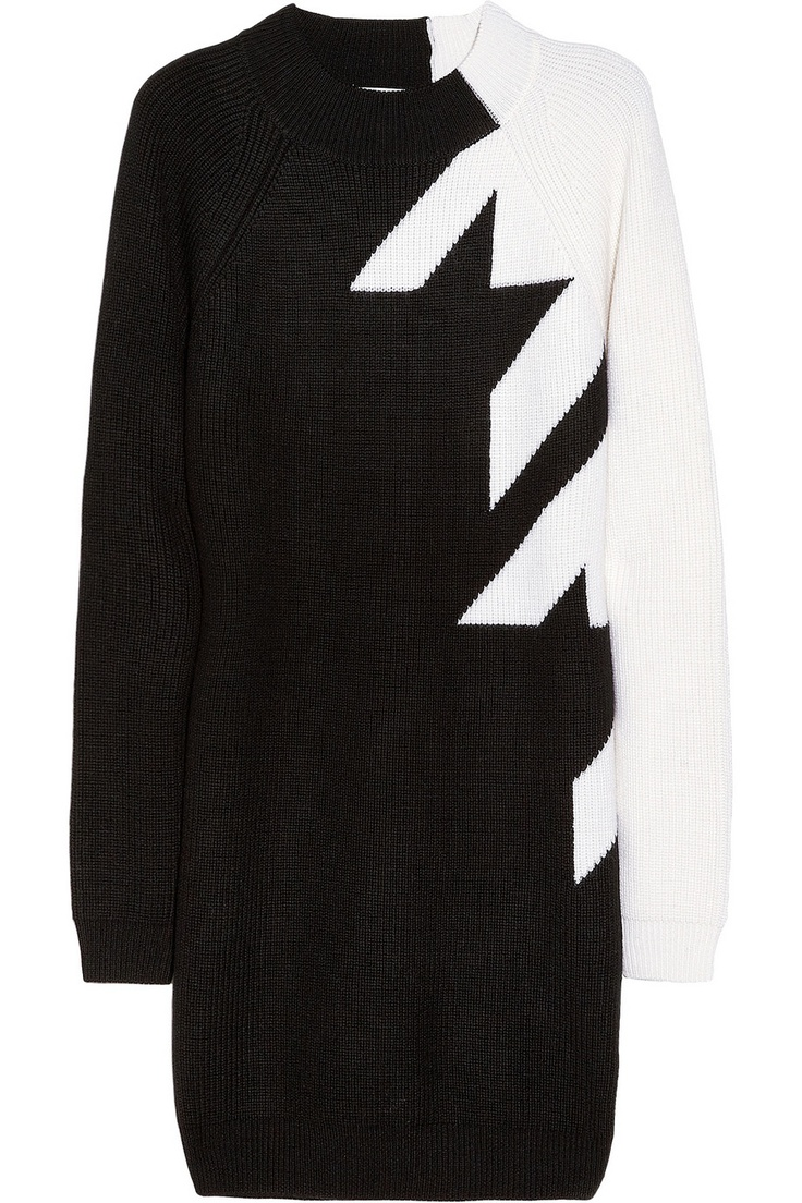 3.1 Phillip Lim | Houndstooth wool sweater dress | NET-A-PORTER.COM