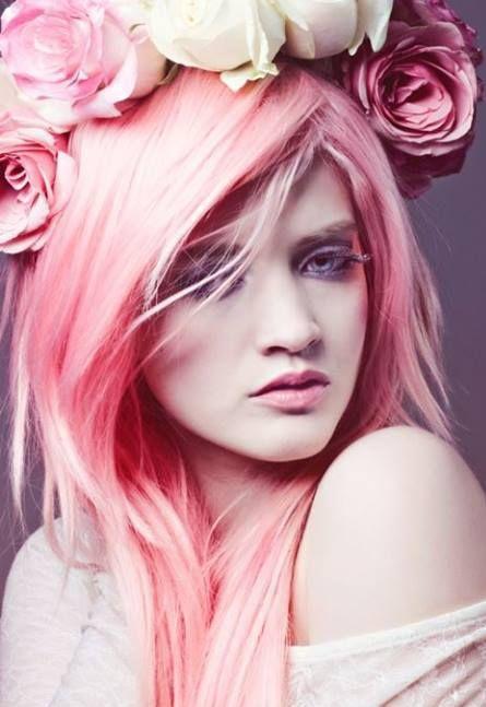 короткие розовые волосы - Поиск в Google