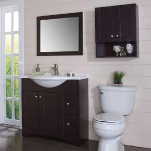 Photo Gallery On Website Glacier Bay Del Mar in W x in H x in D Over the Toilet Bathroom Storage Wall Cabinet in Espresso