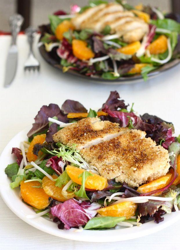 Sesame Chicken Tangerine Salad.